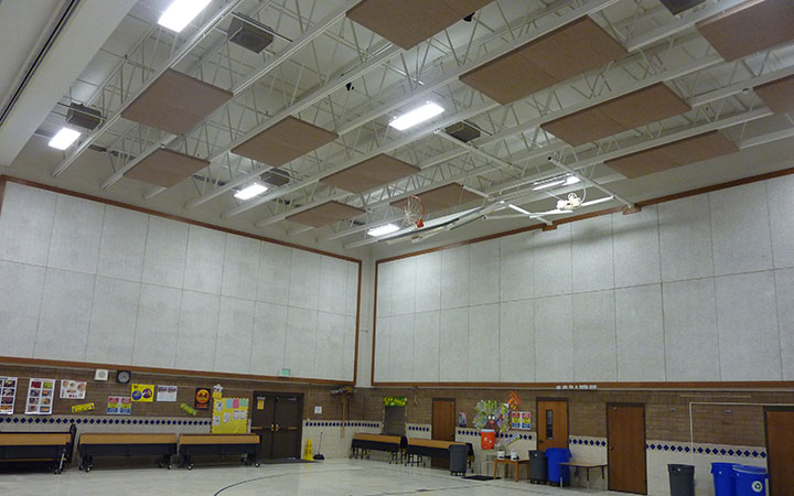 Gymnasium lighting is very difficult to maintain because of the high ceilings. In the gym shown here old metal halide lighting was replaced with new ... & Gymnasiums | LMS Lighting